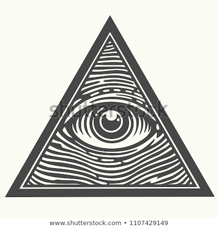 one eye triangle sign symbol Stock photo © vector1st