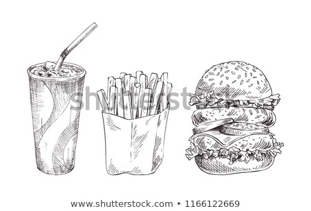 hand drawn cola paper cup vector monochrome sketch stock photo © robuart