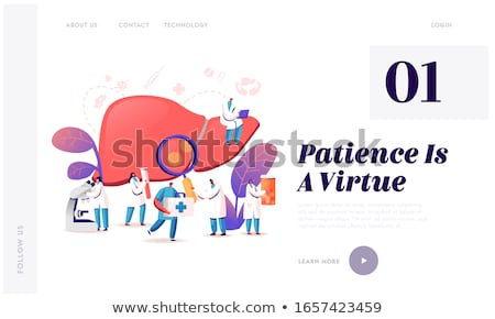 cirrhosis concept landing page stock photo © rastudio