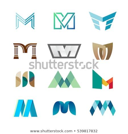 kleurrijk · abstract · logo · letter · m · business · brief - stockfoto © blaskorizov