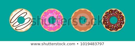 ストックフォト: ドーナツ · カラフル · 黄色 · 背景 · 脂肪