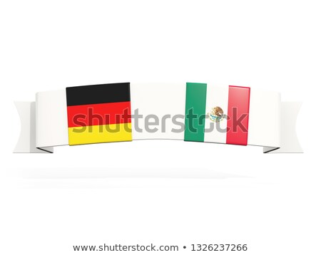 Banner with two square flags of Germany and mexico Stock photo © MikhailMishchenko