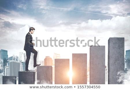 üzlet grafikus diagram vállalkozók statisztika analitika Stock fotó © robuart