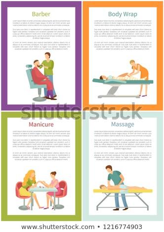 massaggio · apparato · addominale · trattamento · vettore · manifesti - foto d'archivio © robuart