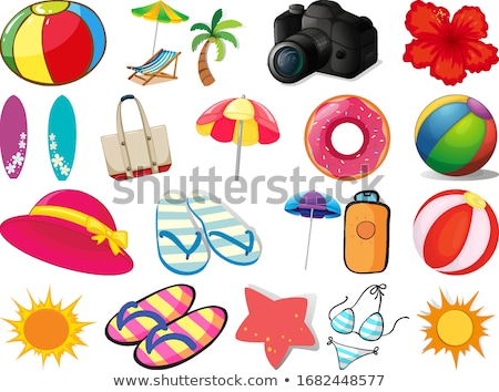 set of beach background with different weather stock photo © bluering