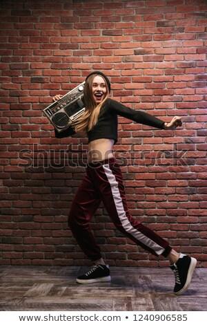 görüntü · eğlenceli · hip · hop · kız · 20s · ayakta - stok fotoğraf © deandrobot