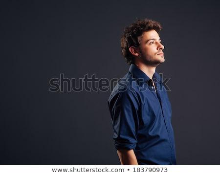 Centrado hombre mano bolsillo azul Foto stock © feedough