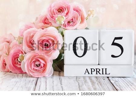 Cubes calendar 5th April Stock photo © Oakozhan