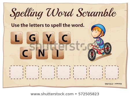 Spelling word scramble game template with word cycling Stock photo © colematt