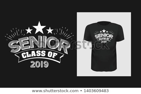 Tshirt modelo graduados classe projeto imprimir Foto stock © ikopylov