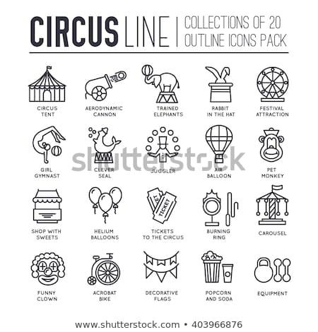 circus icons flat set stock photo © netkov1