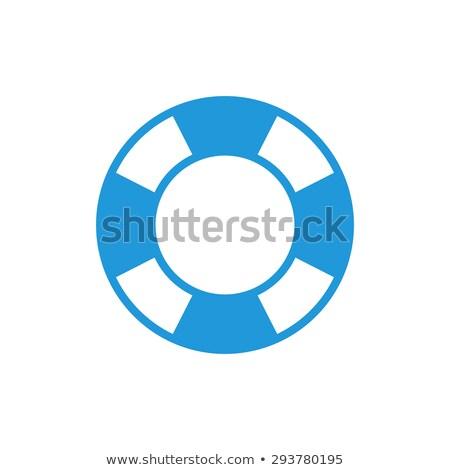 vector flat outline lifebuoy, life buoy icon Stok fotoğraf © VetraKori