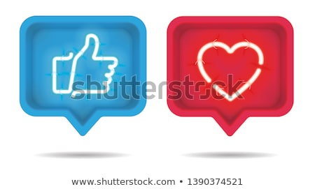 button with heart  on dark background. 3D illustration Stock photo © ISerg