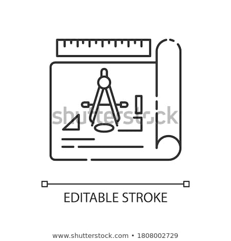 Drawing divider icon Stock photo © biv