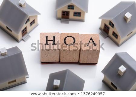 House Models Around HOA Cubic Blocks Stock photo © AndreyPopov