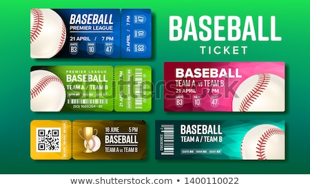 Elegante projeto beisebol jogo bilhetes conjunto Foto stock © pikepicture