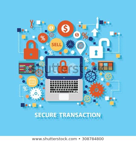 Tranzakció biztonság technikai támogatás oldalak háló vektor Stock fotó © robuart