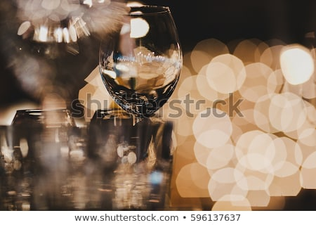 Restaurant Table and Glassware with Cocktails Stock photo © robuart
