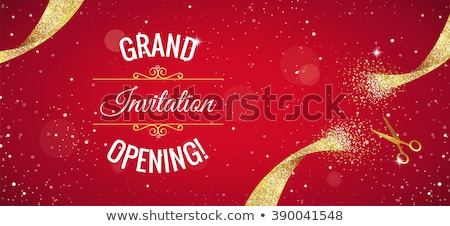 grand opening celebration banner with text space Stock photo © SArts