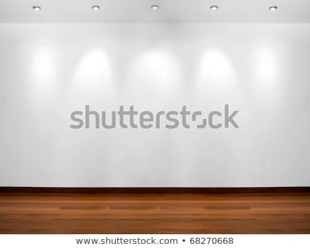 Copyspace background with an empty white wall with a hardwood wo Stock photo © boggy