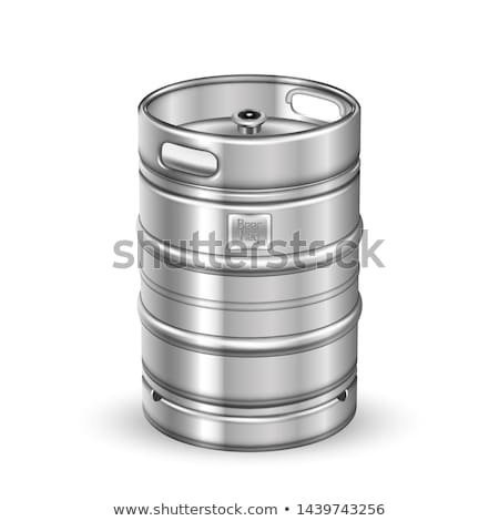 Classic Stainless Steel Beer Keg Barrel Vector Stock photo © pikepicture