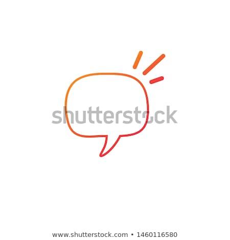 Doğrusal konuşma balonu dikdörtgen bozuk daire Stok fotoğraf © kyryloff