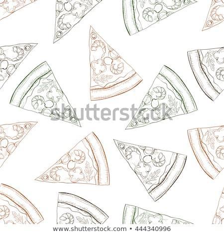 ピザ ベーコン eps 10 卵 ストックフォト © netkov1