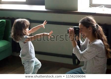 Familie camera foto's digitale man Stockfoto © robuart