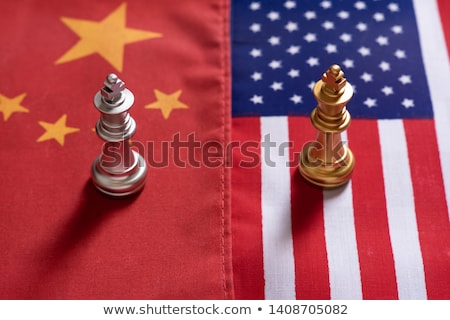 Сток-фото: China Us Tariff War