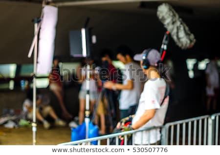 3d · ember · igazgató · színpad · tevékenység · férfi · film - stock fotó © galitskaya