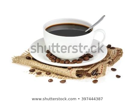 Eszpresszó kávé fehér felső kilátás forró Stock fotó © magraphics