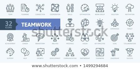 従業員 ブレーンストーミング ビジネス 計画 ウェブ ベクトル ストックフォト © robuart