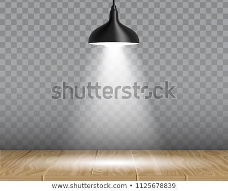 Black Hanging Lamp Isolated Transparent Background Stock photo © adamson