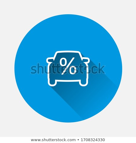 Car Credit Loan Icon Vector Outline Illustration Stock photo © pikepicture