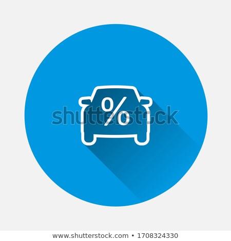 Autó kredit kölcsön ikon vektor skicc Stock fotó © pikepicture