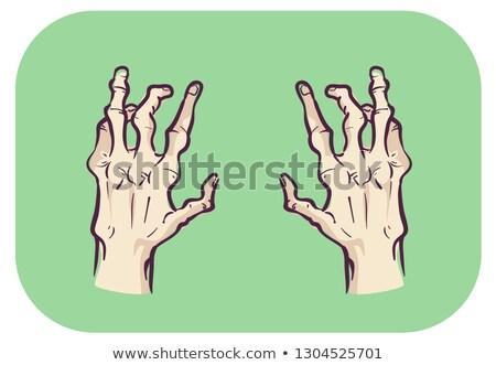 Ręce symptom zarówno strona ilustracja wspólny Zdjęcia stock © lenm