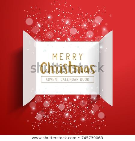 Karácsony díszítések advent naptár ajtók nyitva Stock fotó © solarseven