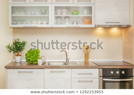 Beautiful Kitchen Stove with Cooking Pot and Toaster Oven Stock photo © feverpitch