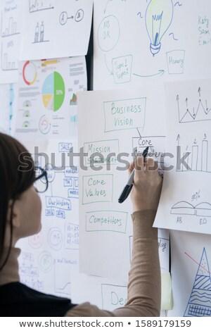 Młodych kobiet pośrednik trenerem wskazując jeden Zdjęcia stock © pressmaster