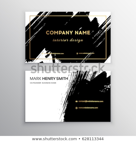 business card design in black and gold colors Stock photo © SArts