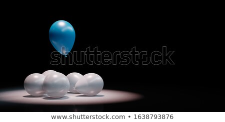 Blue Balloon Stand Out in a Crowd of White, Fly High Concept Stock photo © make
