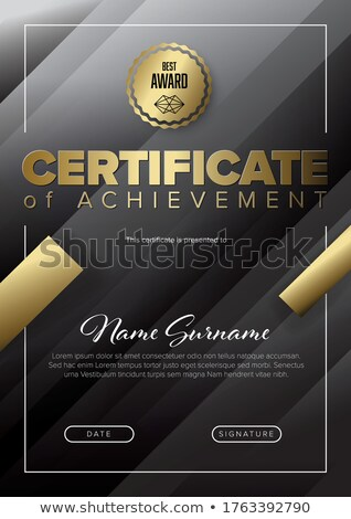 Modern black certificate template with golden accent Stock photo © orson