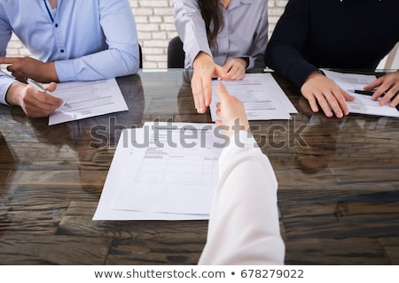 First Person View Shaking Hands At Interview Stock photo © AndreyPopov