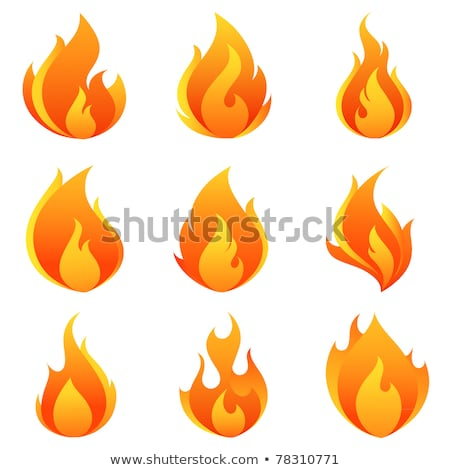 Flames and Sparkles, Explosion Icon Red Blaze Stock photo © robuart