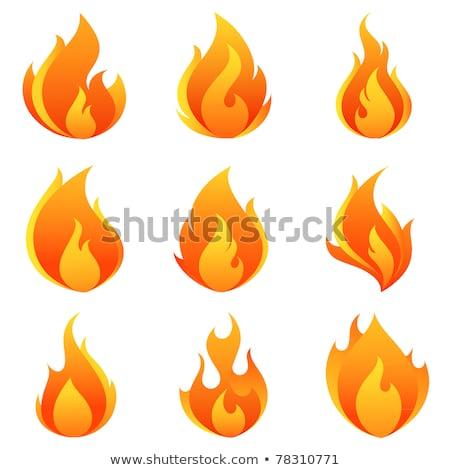 Vlammen explosie icon Rood brandbaar Stockfoto © robuart