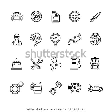 Pneumatico icona vettore contorno illustrazione Foto d'archivio © pikepicture