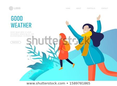Forecast Weather Landing Page Stock photo © Anna_leni