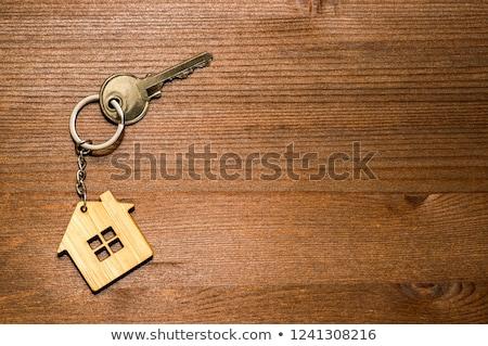 Otthon tulajdonjog kulcs bróker befejezés ház Stock fotó © AndreyPopov