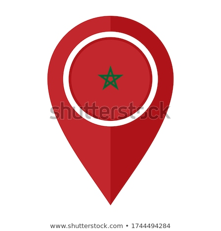 Morocco flag, vector illustration on a white background Stock photo © butenkow