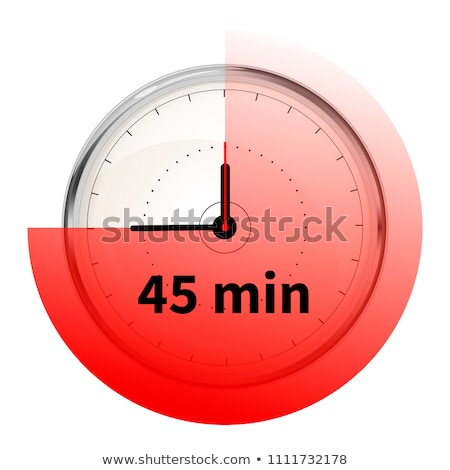 Realistic clock face with forty five minutes timer on white Stock photo © evgeny89
